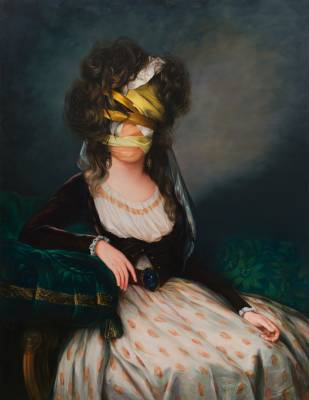 Ewa Juszkiewicz, 'Untitled (After Elizabeth Louise Vigee Le Brun), oil on canvas, 150 x 115 cm, 2017