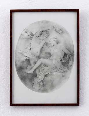 Untitled (after Jean-Antoine Watteau), pencil drawing on paper, 61x46 cm, 2016